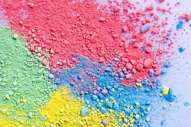 Fondo colorido de polvo de tiza