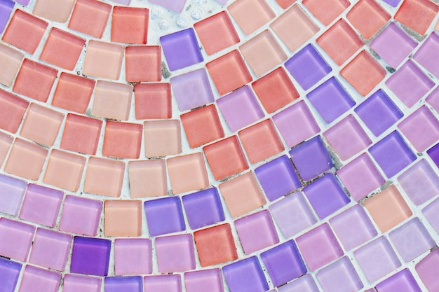 Fondo colorido de la textura de la pared del vidrio y del azulejo, arte del mosaico