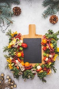 Fondo de comida de navidad
