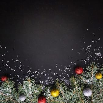 Fondo de composición de navidad
