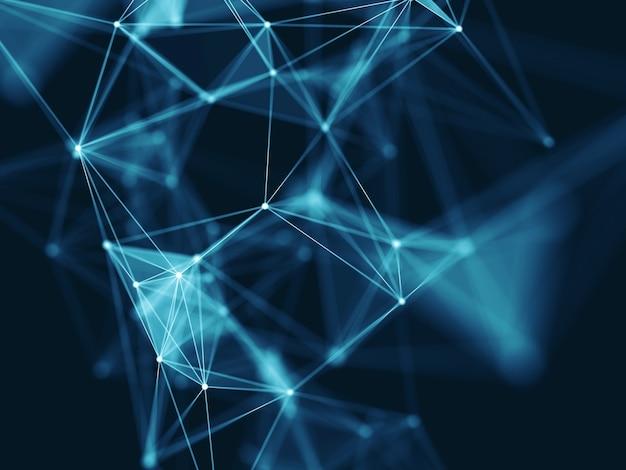 Fondo de comunicaciones de red moderna ciencia 3d