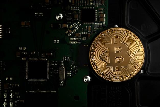 Fondo del concepto de bitcoin