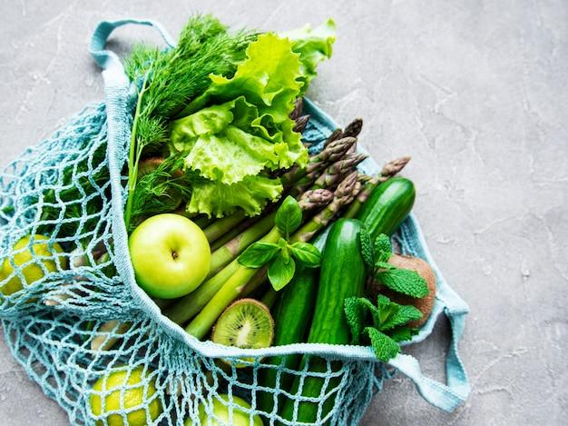 Fondo de concepto de comida vegetariana saludable