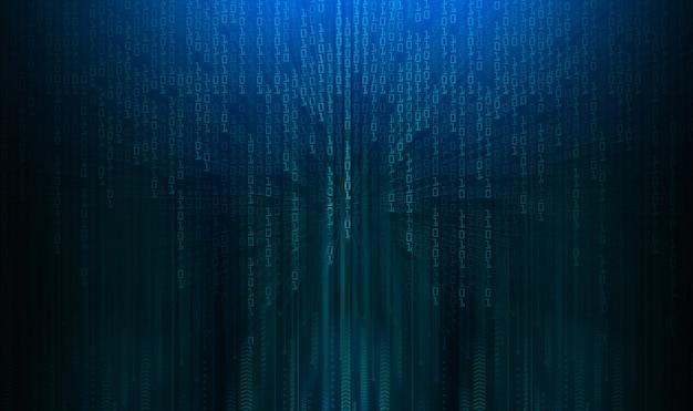 Fondo de concepto de tecnología futura de circuito azul cibernético