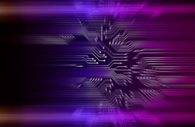 Fondo de concepto de tecnología futura de circuito cibernético púrpura