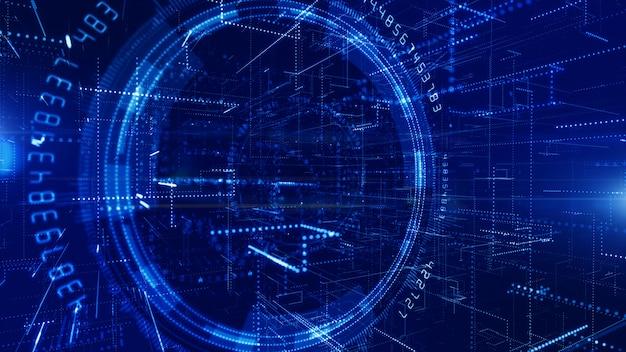 Fondo de conexión de datos digitales de tecnología 5g