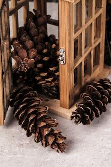 Fondo de conos de pino