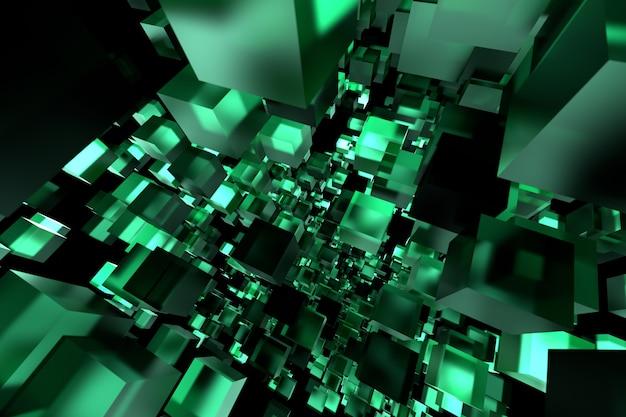 Fondo corporativo polivinílico bajo geométrico del ejemplo de la tecnología verde 3d.