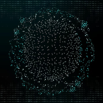 Fondo corporativo de tecnología de círculo de punto digital