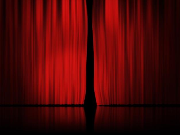 Fondo de cortina roja