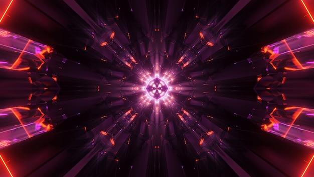 Fondo cósmico con luces láser de colores: perfecto para un fondo de pantalla digital