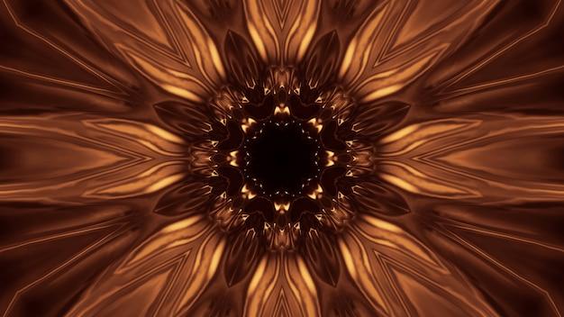 Fondo cósmico con luces láser doradas: perfecto para un fondo de pantalla digital