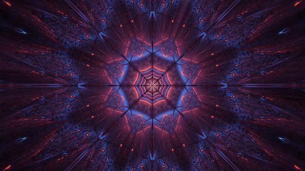 Fondo cósmico de luces láser moradas y negras.