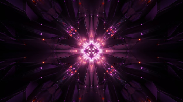 Fondo cósmico con luces láser de neón de colores, perfecto para un fondo de pantalla digital