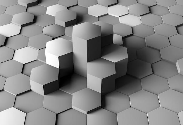Fondo creativo de alto ángulo con formas grises