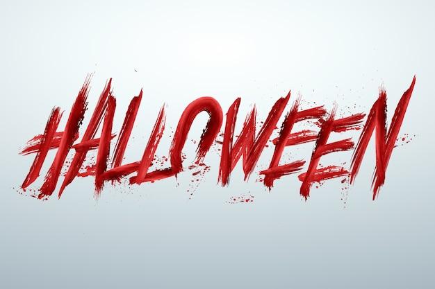 Fondo creativo de halloween. inscripción halloween en rojo sobre un fondo claro.