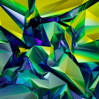 Fondo cristalizado iridiscente verde azul abstracto