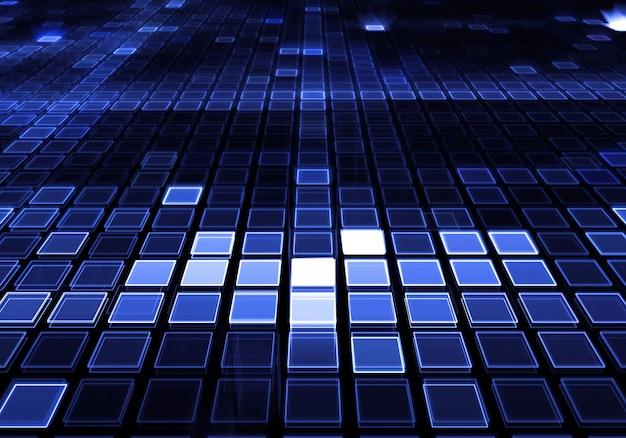 Fondo de cuadrados azules modernos