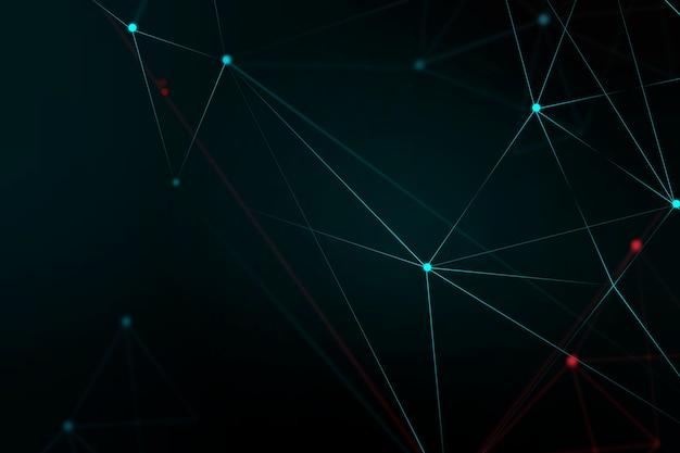 Fondo de cuadrícula digital abstracto negro