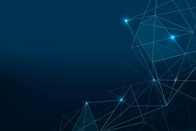 Fondo de cuadrícula digital futurista azul oscuro abstracto