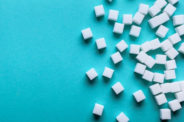 Fondo de los cubos de azucar