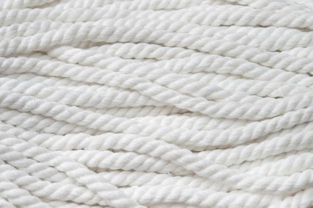 Fondo de cuerda tejida blanca.