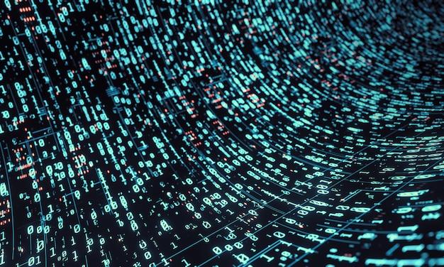 Fondo de datos binarios en tono de color azul.