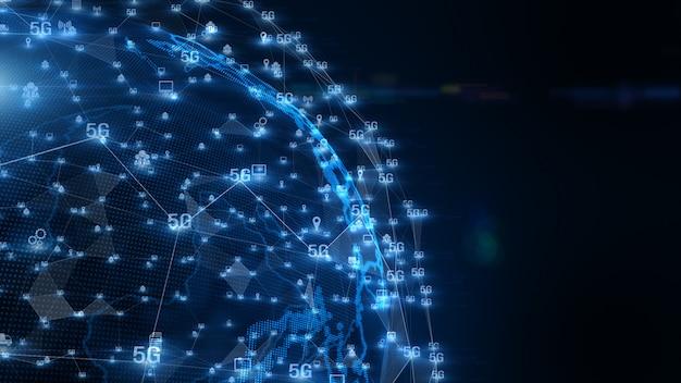 Fondo de datos digitales de conectividad 5g.