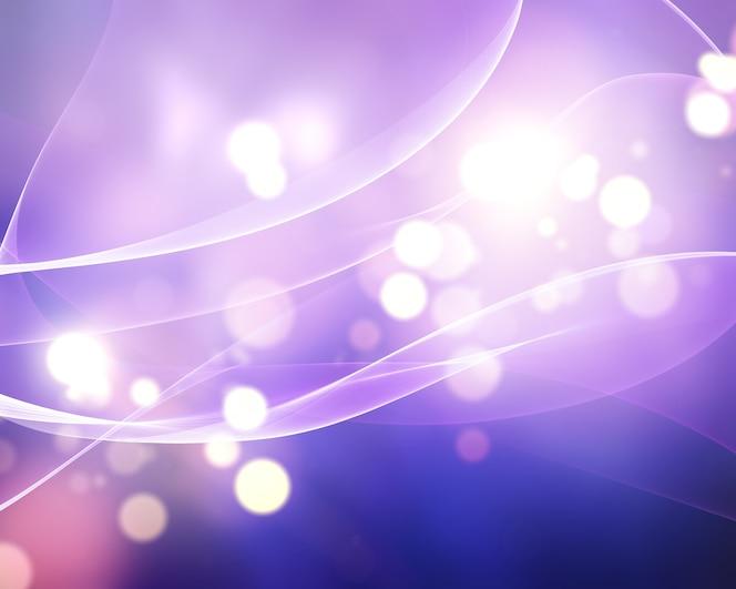Fondo de luces bokeh abstracto con líneas fluidas