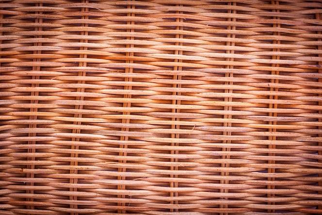Fondo de textura de mimbre marrón