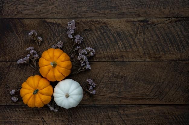 Fondo de decoración feliz halloween o día de acción de gracias