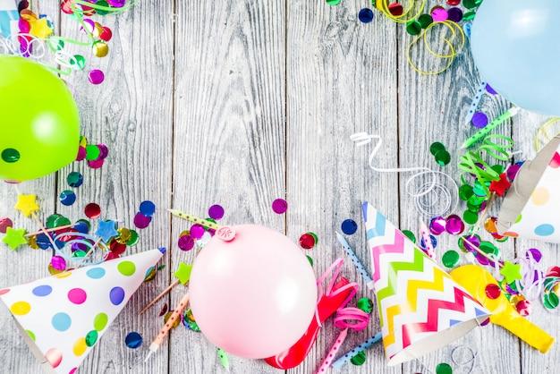 Fondo de decoración de fiesta de cumpleaños