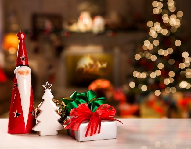 Fondo de decoración navideña.