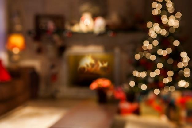 Fondo de decoracion navideña