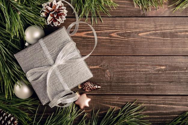Fondo de decoración navideña