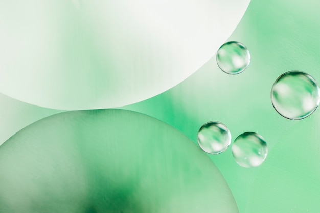 Fondo decorativo de burbujas de aceite