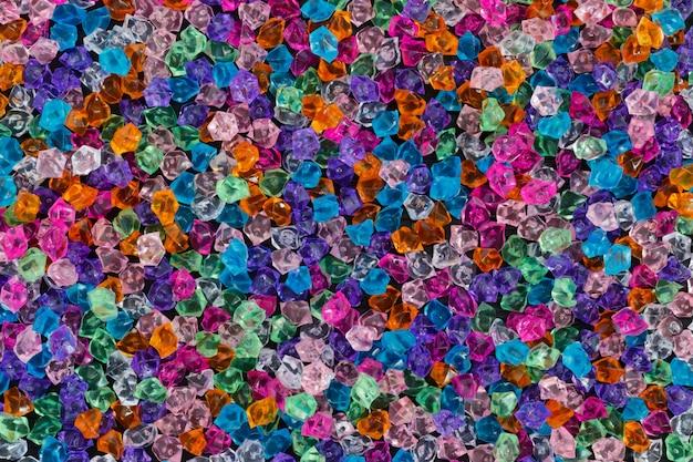 Fondo decorativo de cristales acrílicos de colores