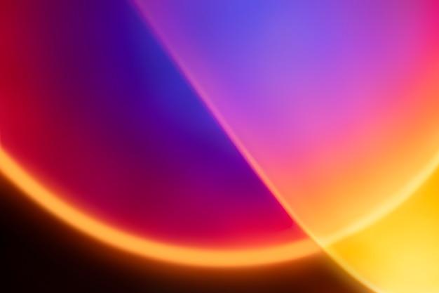Fondo degradado colorido con luz led de neón