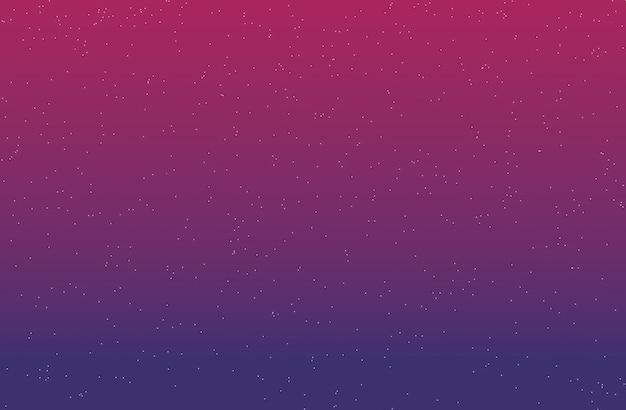Fondo degradado con estrellas púrpura y rosa oscuro representación 3d.