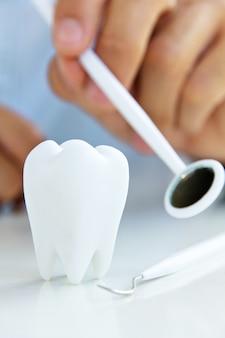 Fondo del concepto de higiene dental