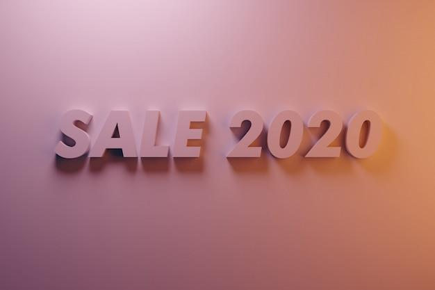 Fondo de descuento de año nuevo palabra venta 2020 iluminación de color