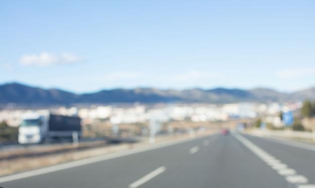 Fondo desenfocado concepto de carretera