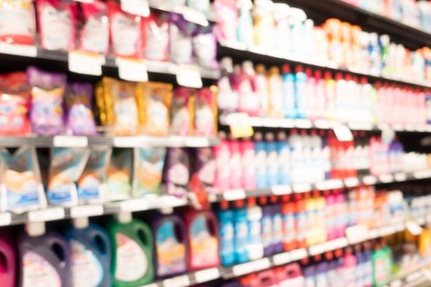 Fondo desenfocado de productos coloridos
