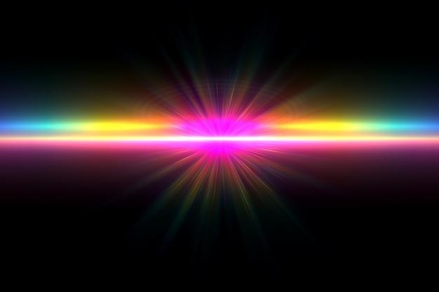 Fondo de destello de lente digital brillante abstracto
