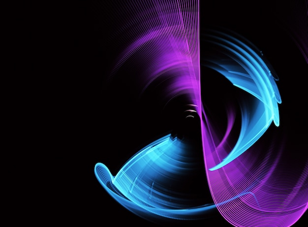 Fondo dinámico de color abstracto con efecto de iluminación.