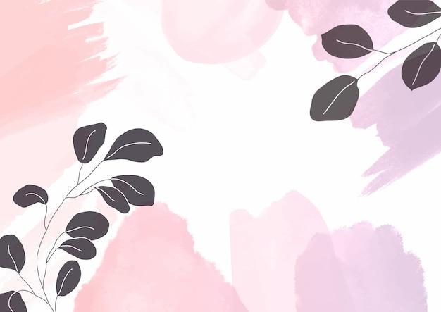 Fondo de diseño de acuarela floral pintado a mano abstracto