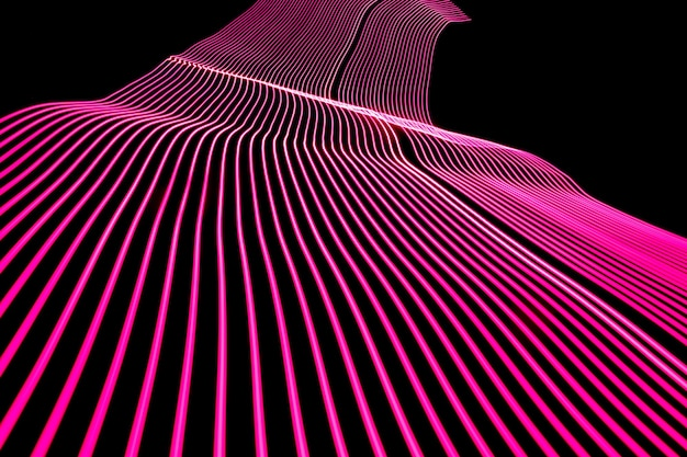 Fondo de diseño de línea de neón brillante. fondo moderno en estilo de líneas. efecto abstracto, creativo, textura con iluminación.