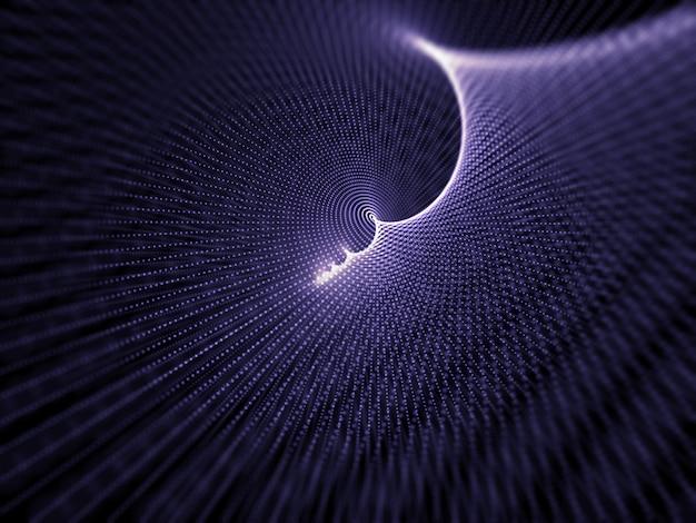 Fondo de diseño de partículas cibernéticas abstractas 3d