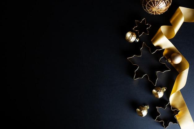 Fondo dorado abstracto de navidad