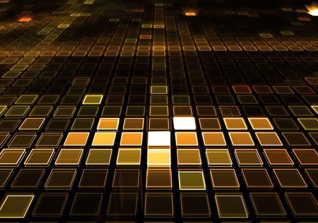 Fondo dorado de suelo de baile de música dj